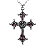 Noctis Cross Pendant Pewter Alchemy P206