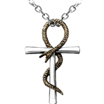 Ankh of Tau Necklace Pewter Alchemy Pendent P508