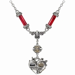 Corvus Machina Necklace Pewter Alchemy P567