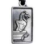 Gargoyle Pewter Pendant Necklace 121.0765