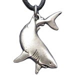 Great White Shark Pewter Pendant 121.0155