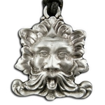 Green Man Pewter Pendant Necklace 121.0646