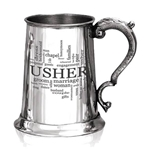 Wedding Usher One Pint Pewter Tankard