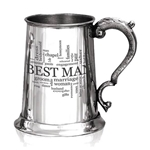 Wedding Best Man One Pint Pewter Tankard WD527