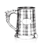 Straight Tartan One Pint Pewter Tankard