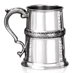 Straight Nurled One Pint Pewter Tankard