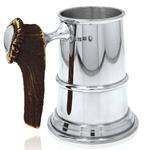 Stag Handle One Pint Pewter Tankard