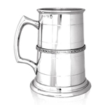 Heavy Gauge Celtic Band One Pint Pewter Tankard