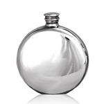 Round Plain Pewter Flask 6 Ounces