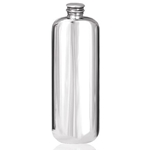 Top Pocket Plain Pewter Flask 3 Ounces