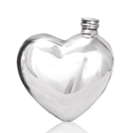 Heart Shaped Pewter Flask 6 Ounces