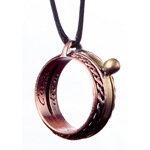 Copper Celtic Sundial Ring Pendant