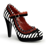 Betty's Striped Mary Jane Pumps