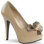 Lolita Cream Patent Leather Pumps