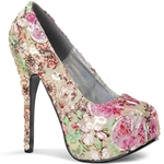 Teeze Basic Floral Platform Pumps