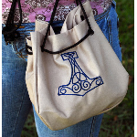 Embroidered Thors Hammer Pouch TT-215