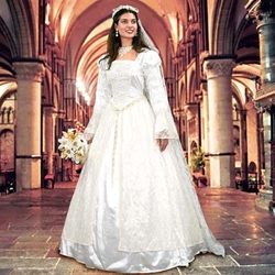 Renaissance Wedding Gown and Veil