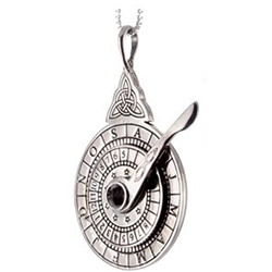 Sterling Silver Nocturnal Stardial Pendant