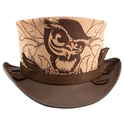 Hootie Leather Top Hat