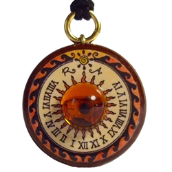 Sundial Necklace Amber