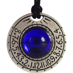 Sundial Necklace Blue
